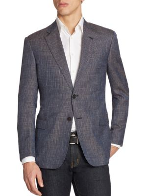 Houndstooth Wool Sportcoat