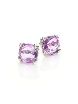 Dew Drop Cluster Amethyst Stud Earrings