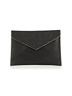 레베카 밍코프 레오 클러치 Rebecca Minkoff Leo Saffiano Leather Envelope Clutch