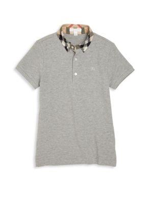 Little Boy's & Boy's Check Collar Polo Shirt