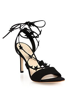 45724adabec Loeffler Randall Arielle Star Suede Lace-Up Sandals