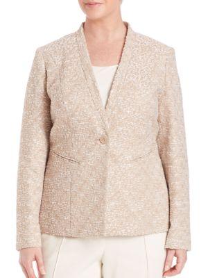 Kara Terraza Weave Jacket plus size,  plus size fashion plus size appare
