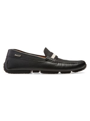 Pearce Pebbled Leather Driving Loafers
