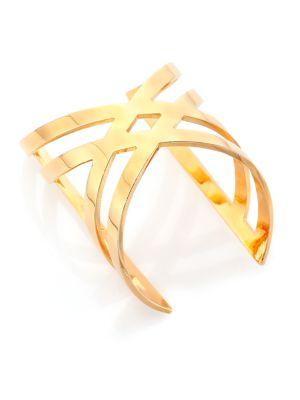 Chevron Prix Crossed Rein Cuff Bracelet