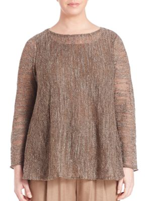 Glistening Layered Sweater plus size,  plus size fashion plus size appare