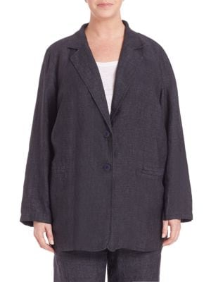 Delave Oversized Linen Blazer plus size,  plus size fashion plus size appare