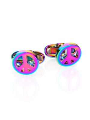Peace Sign Cuff Links