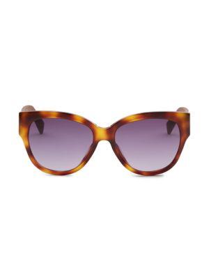 54MM Croc-Embossed Sunglasses