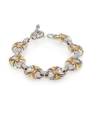 Hebe 18K Yellow Gold & Sterling Silver Bracelet