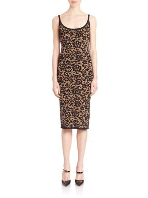 michael kors purses outlet online 4z71  Michael Kors Scoop-Neck Floral Tank Dress, Black, Women's, Size: M