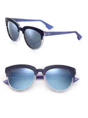 Sight1 54MM Mirrored Half-Rim Sunglasses