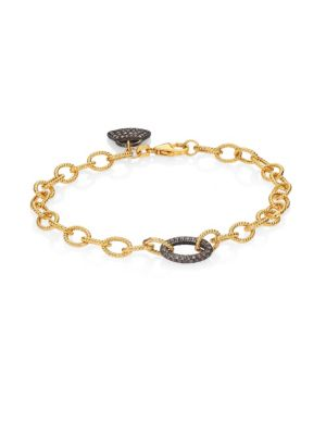 NINA GILIN Diamond & 14K Yellow Gold Charm Bracelet
