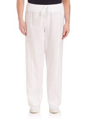 Organic Linen Wide-Leg Pants plus size,  plus size fashion plus size appare