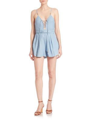 Talisman Denim Short Jumpsuit