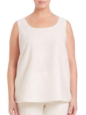 Linen Gauze Tank plus size,  plus size fashion plus size appare