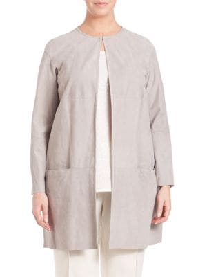 Irid Suede Jacket plus size,  plus size fashion plus size appare