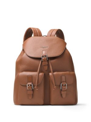 michael kors male leather backpack