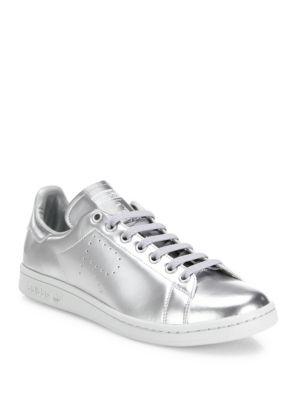 Adidas By Raf Simons Stan Smith Metallic Leather Sneakers