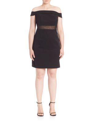 Off-The-Shoulder Cocktail Dress plus size,  plus size fashion plus size appare