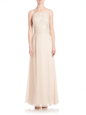 Lace Halter Bridesmaid Gown