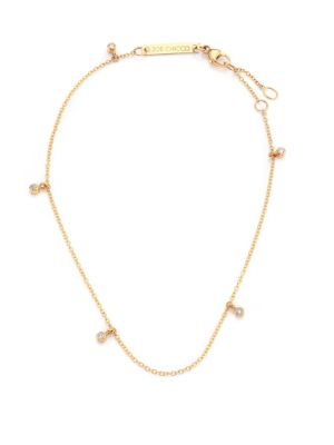Diamond & 14K Yellow Gold Charm Anklet