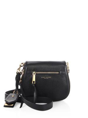 marc jacobs female 188971 small leather saddle bag