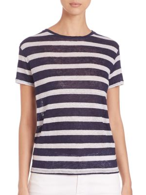 Striped Linen Boyfriend Tee