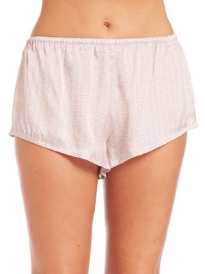 Rose Tile Silk Sleep Shorts by Asceno