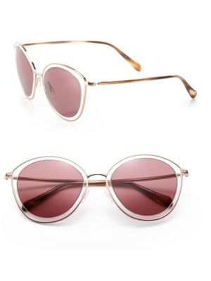 Gwynne 62MM Metal Cat's-Eye Sunglasses