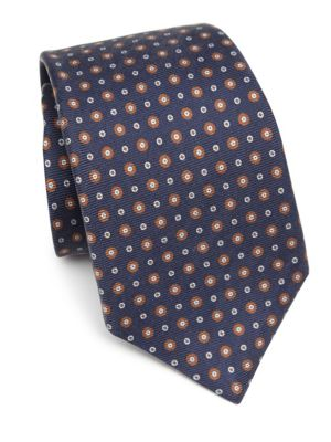 Dot Patterned Silk Tie