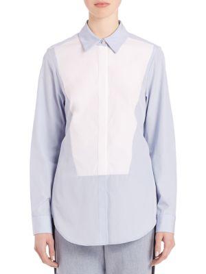 Open-Back Cotton Shirt