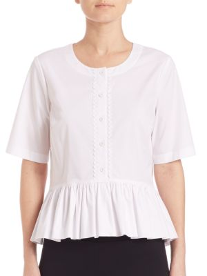 COLLECTION Ruffle Hem Blouse by Saks Fifth Avenue