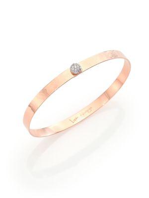 Affair Infinity Love Always Diamond & Hammered 14K Rose Gold Bracelet
