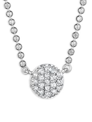 PHILLIPS HOUSE Affair Micro Infinity Diamond & 14K White Gold Pendant Necklace