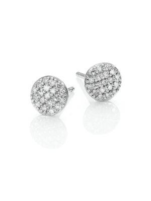 Affair Micro Infinity Diamond & 14K White Gold Stud Earrings