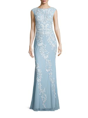 Capsleeve Lace Detail Gown