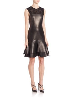 Sleeveless Leather Dress