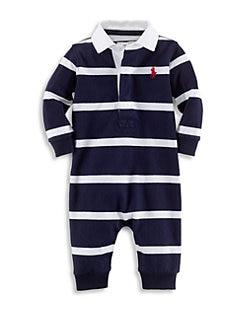 폴로 랄프로렌 남아용 아기 커버올 우주복 Polo Ralph Lauren Baby Boys Cotton Rugby Coverall