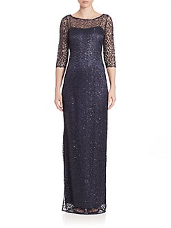 Mother of the Bride Dresses: Lace Beaded &amp More  Saks.com