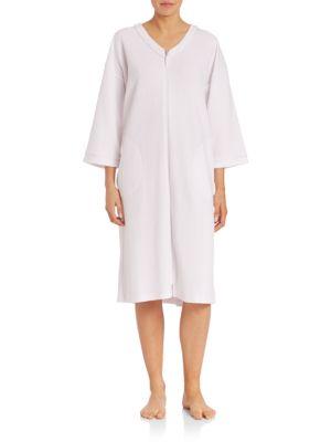 WaffleKnit Short Zip Robe