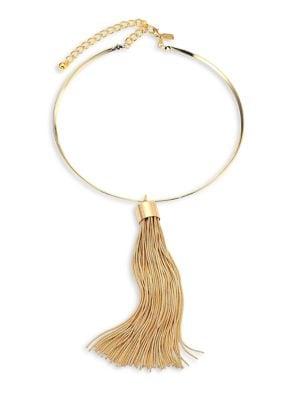 Snake Chain Tassel Choker Necklace