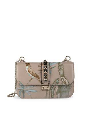 valentino female 45985 rocklock medium embroidered leather bag