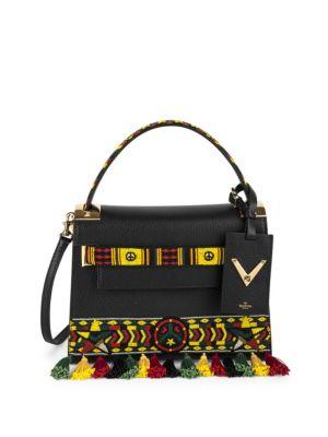 valentino female 188971 my rockstud small jamaican beaded leather bag