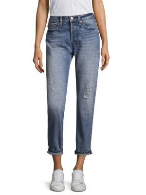 Wedgie High Rise Icon Cropped Boy-Fit Selvedge Jeans