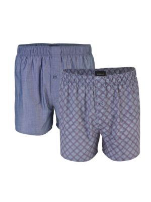 2-Pack Fancy Woven Boxers