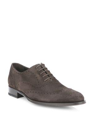 Mac Suede Wingtip Shoes