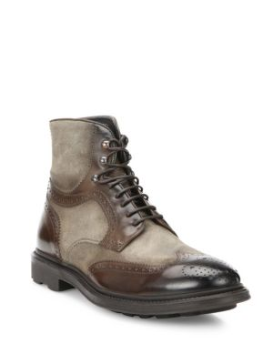 Hobson Wingtip Leather Boots