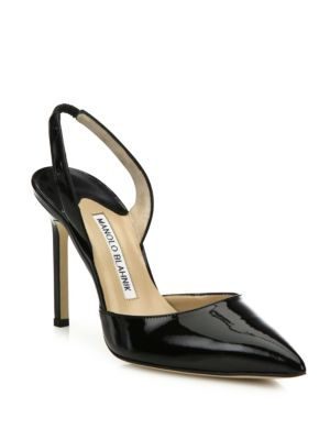 Carolyne Patent Leather Slingbacks