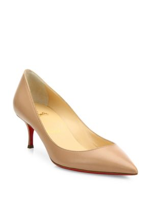 christian louboutin female pigalle follies 55 leather pumps