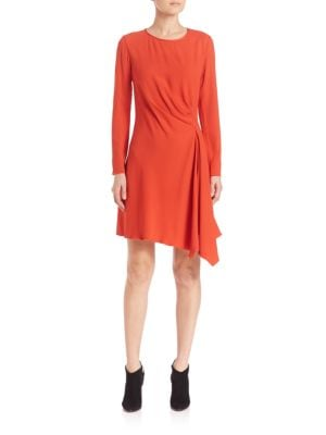 Crepe Side Drape Dress
